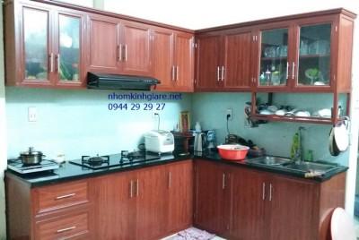 Tủ bếp nhôm kính đẹp tphcm