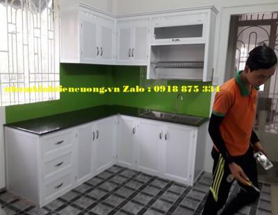 Tủ Bếp Nhôm Kính Sơn Tĩnh Điện Treo Tường  Đẹp Siêu Bền Rẻ Tại Tphcm