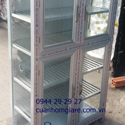 Mẫu tủ chén nhôm kính đẹp chất lượng kiểu dáng MỚI thiết kế CAO CẤP