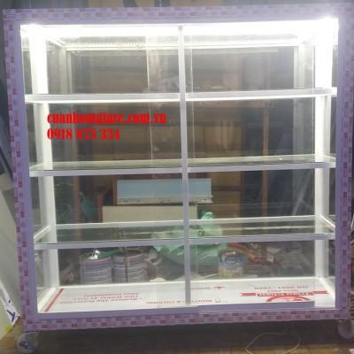 Tủ nhôm kính trưng bày mỹ phẩm TpHCM mẫu thiết kế kiểu dáng ĐẸP