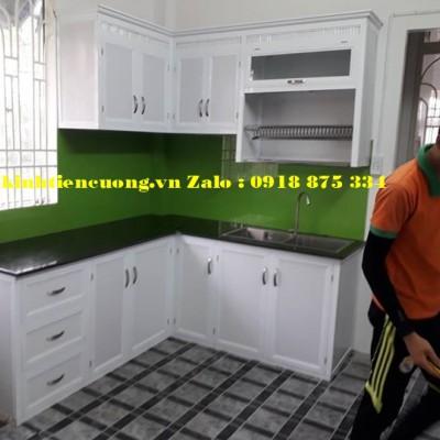 Tủ bếp nhôm kính sơn tĩnh điện TpHCM mẫu MỚI kiểu dáng thiết kế ĐẸP